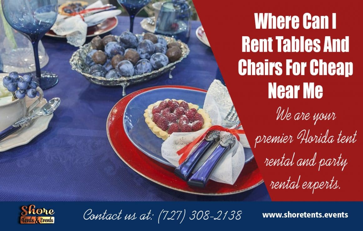 Rent Tables And Chairs For Cheap Near Clearwater Amp Tampa